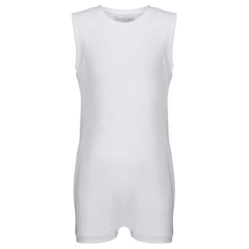 KayCey Super Soft Body Suit - Sleeveless - WHITE from