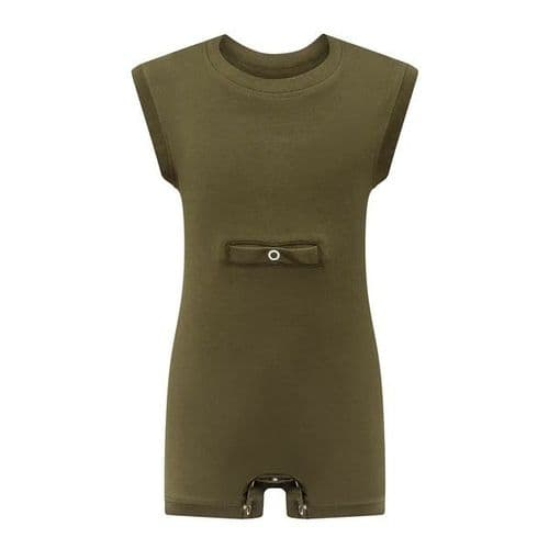 KayCey Super Soft Body Suit - Sleeveless with Tube Access - KHAKI from