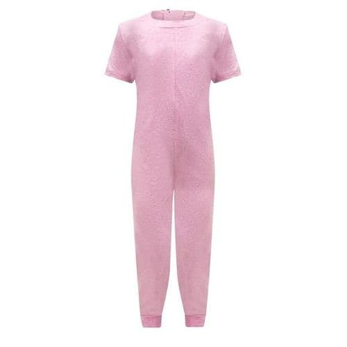 KayCey Super Soft Secret Zip Back Full Length Jumpsuit PINK  from