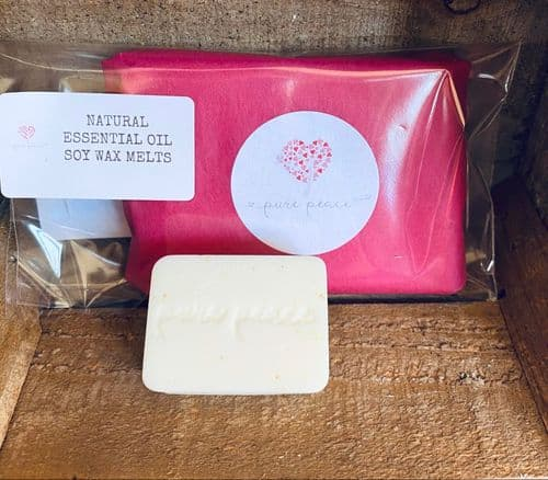 Pure Peace: Therapeutic Essential Oil blended soy melts - 4 pack