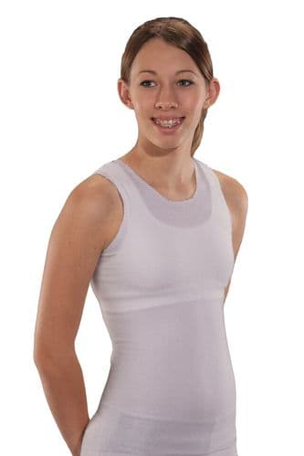 Seamless Unisex Vest for Brace Torso-Interface - Protective Body Sock - Grey - Crew Neck - from
