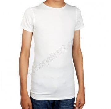 Sensory Hug Shirt - White - Short Sleeve - Light compression.
