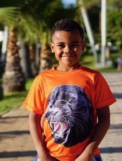 Short sleeve sensory-friendly Panther top - child, teen, adult sizes from...