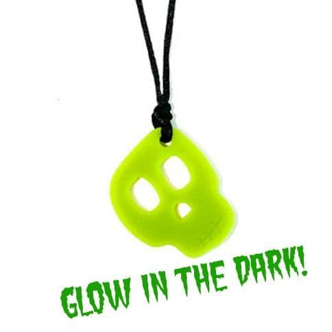 Skull Pendant - 'Spook' - Chewigem *GLOW IN THE DARK!*