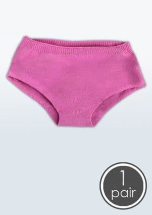 SmartKnitKIDS Seamless Undies for Girls - Single pack Brief Pants - PINK