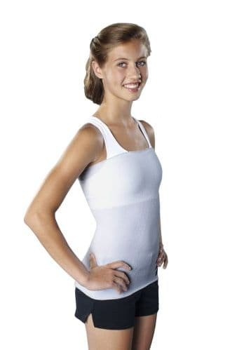 Seamless Unisex Strapless Torso Tube for Brace- Grey without Straps - Protective Body Sock from
