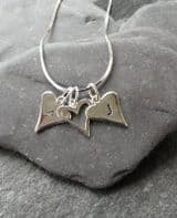 Hand stamped love heart necklace