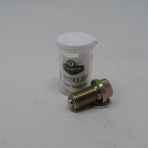 M12 x 1.25 x 19mm Magnetic Oil Sump Drain Plug