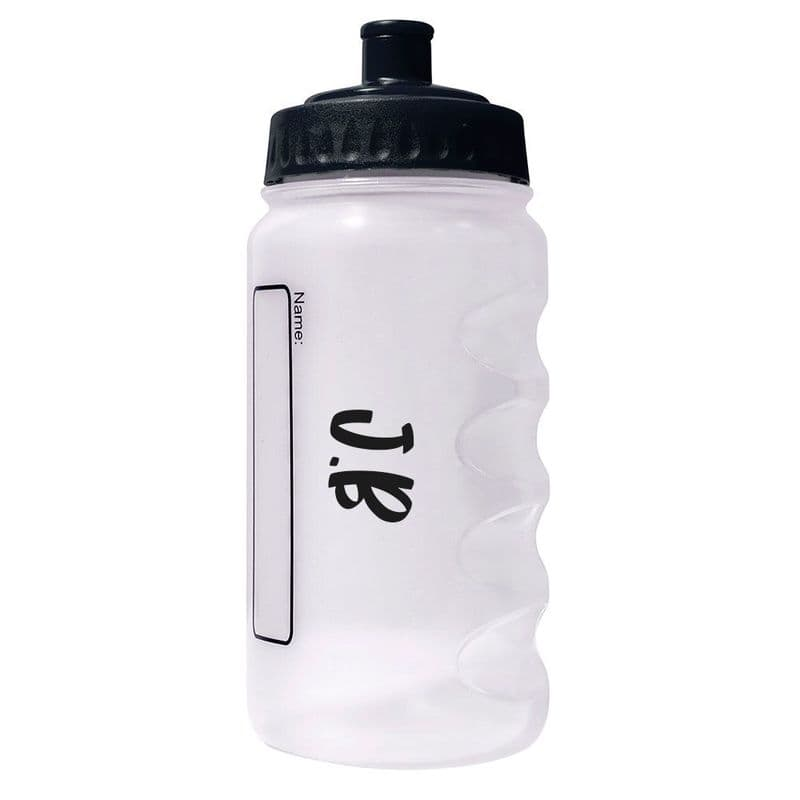 Black Water Sports Bottle with Printed Name - 500ml
