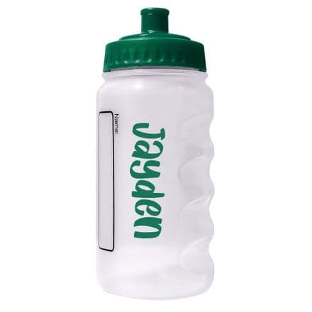 Bottle Green Water Sports Bottle with Printed Name - 500ml