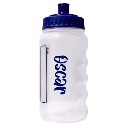Navy Blue Water Sports Bottle with Printed Name - 500ml