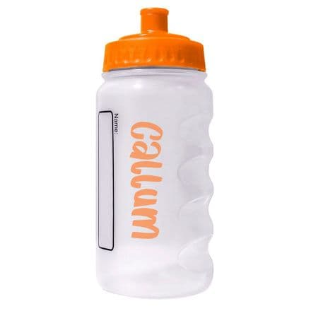Orange Water Sports Bottle with Printed Name - 500ml
