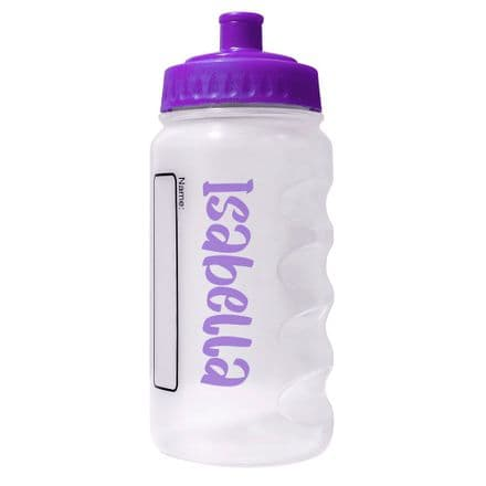Purple Water Sports Bottle with Printed Name - 500ml