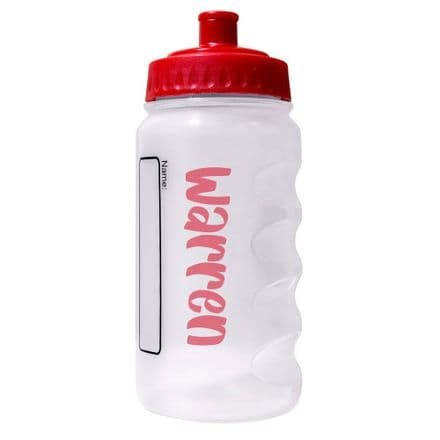 Red Water Sports Bottle with Printed Name - 500ml