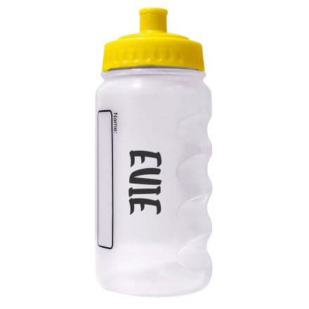 Yellow Water Sports Bottle with Printed Name - 500m