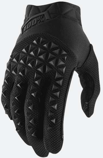 100% Airmatic Youth Motocross Gloves - Black/Charcoal
