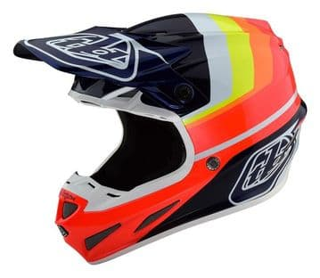 19.1 SE4 Carbon Mirage Motocross Helmet - Blue/Red