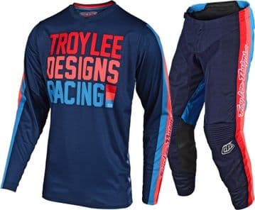 2019 Troy Lee Designs TLD GP Premix  Youth Motocross Kit - White/Blue