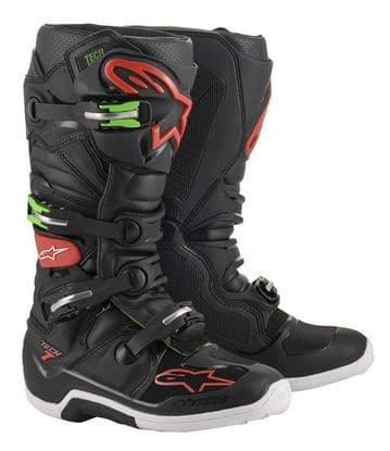 2020 Alpinestars Tech 7 MX Boots - Black/Green/Red