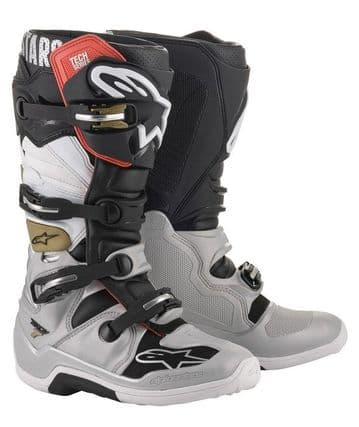2020 Alpinestars Tech 7 MX Boots - Black/Silver/Gold
