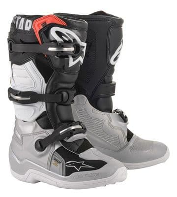 2020 Alpinestars Tech 7S Youth MX Boot - Black/ Silver/ Gold