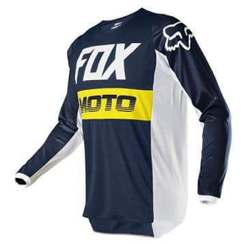 2020 Fyce 180 Youth Motocross Jersey - Navy/Yellow