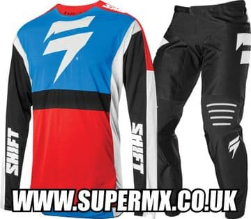 2020 Shift 3lack Label Race 2 MX Kit Combo - Blue / Red