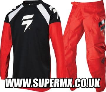 2020 Shift Youth Whit3 Race 1 MX Kit Combo - Red