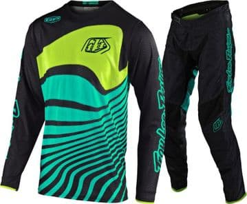 2020 TLD GP Air Youth Drift Motocross Kit - Black/ Turq