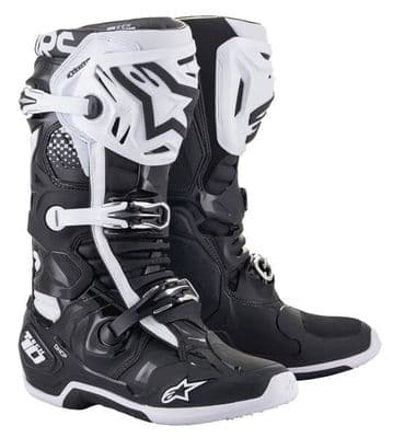 2021 Alpinestars Tech 10 Motocross Boots - Black White