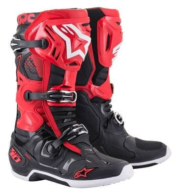 2021 Alpinestars Tech 10 Motocross Boots - Red Black