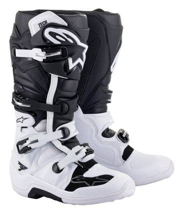 2021 Alpinestars Tech 7 MX Boots - Black White