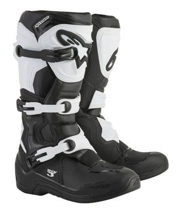 Alpinestars Tech 3 Motocross Boots - Black/ White