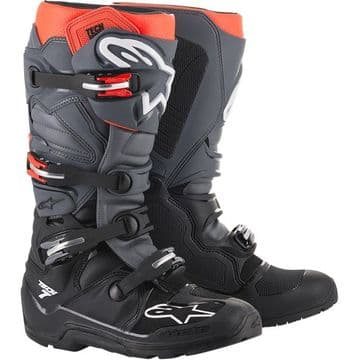 Alpinestars Tech 7 Enduro Boots - Grey Red