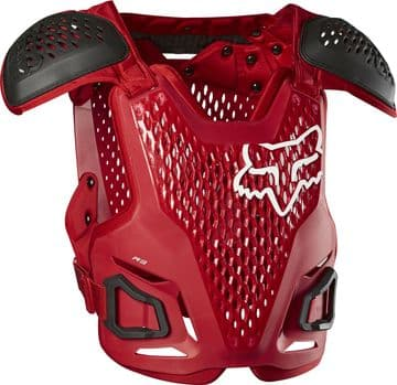 New Fox R3 Roost Chest Guard - Red