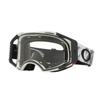 Oakley Airbrake Matte White Speed MX Goggle - Clear Lens