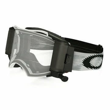 Oakley Airbrake Matte White Speed MX Goggle with Roll Off