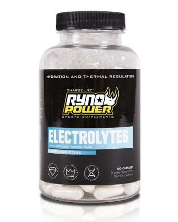 Ryno Power ELECTROLYTES Electrolyte Supplement | 50 Servings (100 Capsules)