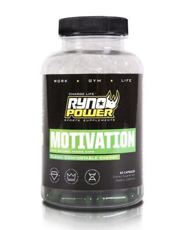 Ryno Power MOTIVATION Pre-Workout Focus Energy Supplement | 30 Servings (60 Capsules)