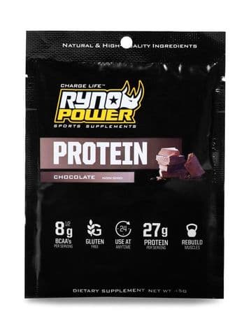 Ryno Power PROTEIN Premium Whey Chocolate Powder | Single Serving