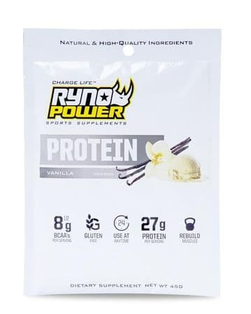 Ryno Power PROTEIN Premium Whey Vanilla Powder | Single Serving