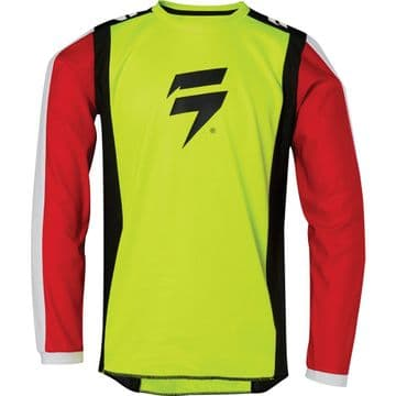 Shift Youth Whit3 Label Race Motocross Jersey - Flo Yellow