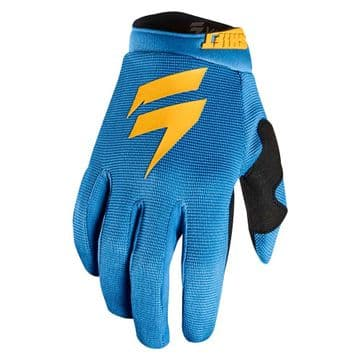 Whit3 Air Youth Motocross Glove - Blue/Yellow