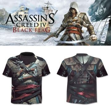 Assassin's Creed IV Edward t-shirt tee-shirt compression cosplay Homme