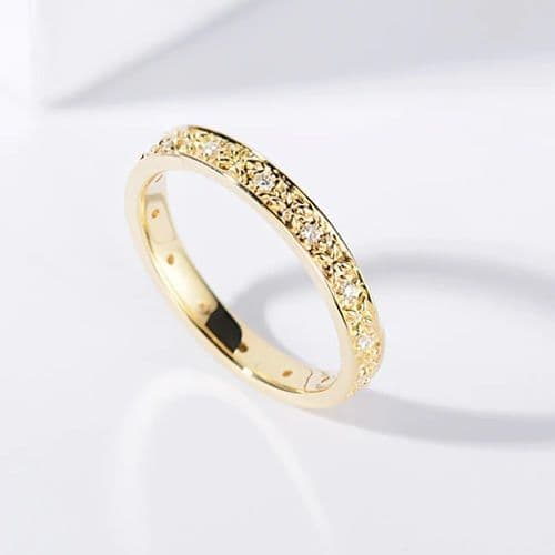 Bague Alliance Diamants Or 18 K