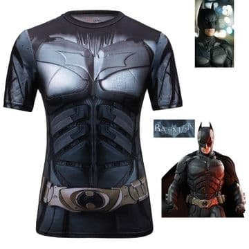 Batman Dark Knight t-shirt Sigle tee-shirt sport compression costume femme