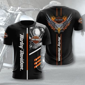 Harley Davidson Motorcycles Aigle tee-shirt compression sport cosplay Homme