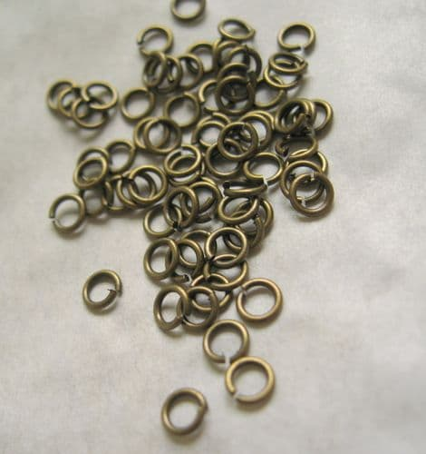 1000 x 5mm Bronze Jump Rings