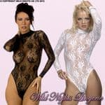 LONG SLEEVE Tulip Lace BODY STOCKING